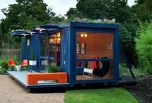 Cargo container house / by Tom Thorson