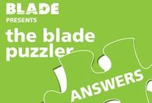 The Blade Puzzler Answers / by Blade Branding