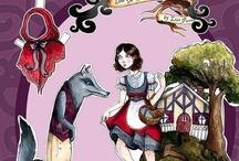 poupée papier, conte de fée, histoire, légende, bd ......./ , articulée, illustration / by freemous