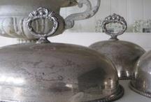 Vintage silver / Brocant zilver / Brocante webwinkel www.feelingathome.nl. Oud brocant verzilverd bestek.  / by Feeling at home Brocante