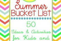 {Family} Summer Bucket List / Summer Bucket List: Ideas and Activities to do this summer with your kids!  Make it a family tradition to check of a bucket list every year. / by Kimber - The Pinning Mama