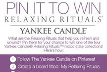 My Relaxing Rituals / What are the Relaxing Rituals that help you refresh and unwind? Pin them for your chance to win one of the four Yankee Candle® Relaxing Rituals™ mood state collections!  / by Yankee Candle: Scented Candles | Home & Car Air Fresheners, Fragrances & Decor