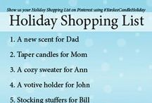 My Holiday Shopping List  / Enter A Very Yankee Candle® Pinterest Holiday Sweepstakes and you might win a $100 Yankee Candle® gift card! Contest Rules: https://www.facebook.com/notes/the-yankee-candle-company/a-very-yankee-candle-pinterest-holiday-sweepstakes-official-rules/10151853986828526 / by Yankee Candle: Scented Candles | Home & Car Air Fresheners, Fragrances & Decor
