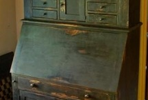 MY BLUE HEAVEN / GREAT BLUE PAINTED ANTIQUE ITEMS / by joan lucas