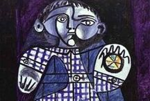 Picasso / Pablo Picasso (10/25/1881–4/8/1973) was a Spanish painter and sculptor. His full name is Pablo Diego José Francisco de Paula Juan Nepomuceno María de los Remedios Cipriano de la Santísima Trinidad Clito Ruiz y Picasso. He is best known as the co-founder of cubism. Cubism is when the artist breaks up objects and re-assembles them in abstract and geometric form. Pablo Picasso created over 20,000 pictures. He was the first living artist to have an exhibition at the Louvre.  / by Dick Roodhorst
