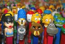 PEZ Dispensers /  My PEZ collection consists of about 350 dispensers.  A fun hobby.... / by Anita Gonzales