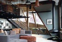 Loft & Studio /  I want a loft! Where I can work and live! / by Jennifer Grey