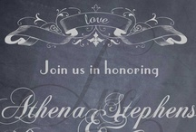 """Chalkboard Expressions Engagement Party / Chic party ideas to go along with Luc & Lilah Events """"Chalkboard Expressions Engagement Party"""" Invitation / by Luc & Lilah Events"""