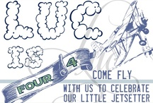 """Friendly Skies Party / Chic party ideas to go along with Luc & Lilah Events """"Friendly Skies"""" Invitation / by Luc & Lilah Events"""