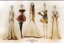 fashion sketches / by Melanie Berg