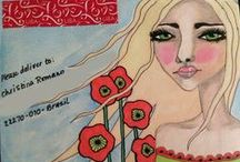 """Mail Art / Art that is created and then sent """"naked"""" through the mail. / by Tracy (Tandy) Anderson"""