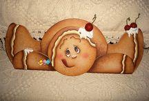 Gingerbread Men Sooooooo Cute !!! / Gingerbread decoration's / by Candy Zacarias
