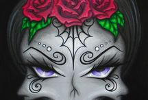 Sugar Skull's / Skull makeup / by Candy Zacarias