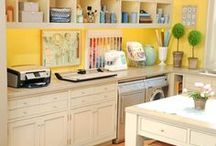 HOME: Office/Craft Room / by Kimberly | A Night Owl Blog