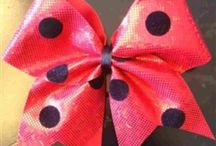 cute cheer bows / by Alyssa Cole