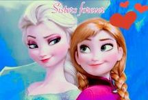 Anna and Elsa Frozen / I LOVE FROZEN AND ELSA AND ANNA  ELSA IS AWESOME AND LOVES HER SISTER ANNA! / by M Knight