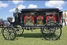 Hearses - Vintage and interesting! / Various vintage items of mourning. / by Wini Minerd