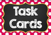 Task Cards / I love using task cards in the classroom!  I enjoy trying new ways to utilize task cards in my classroom, too.  Visit me at www.taskcards.com to see how I use them in my classroom! / by Teaching with a Mountain View