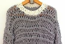 """t-shirt yarn / inspiration, projects, diy, tutorials and all you can think of ...with  t-shirt yarn (AKA """"tarn"""") / by Donatella inspiration&realisation"""