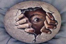 ROCK ART / Painting on rocks - brings back good childhood memories. Always makes me happy! :-D / by Jeannette Connally