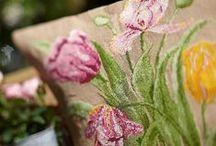 Burlap Crafts/Decor / I love burlap its really cheap to buy you can buy it by the metre on e bay and it works well with a variety of mediums great for country crafts and the shabby chic look / by yvonne