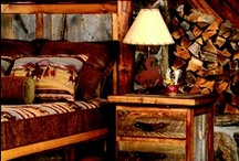 Wyoming Furniture Collection / Innovative high-end rustic collection: bedroom furniture, living room tables and accent pieces Blends weathered, reclaimed wood (Wyoming snow fence) with regionally-harvested solid woods Each piece unique: features distinct coloration patterns and natural patina / by Mountain Woods Furniture Manufacturing LLC