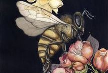 Bee Inspired / My husband, son and I are learning from our bees <3 We try to do everything minus chemical interference. Our bees live in manmade hives but I would not call them tame by any means! / by Kelley Craghead