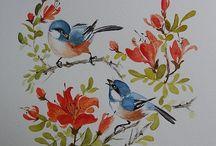 Chinese, Japanese Brush Painting, Etc. / by Cathy Cullum