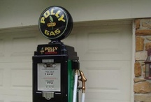 Advertising - Gas pumps, neon clocks, signs, and other cool antiques. / by Chris Felke