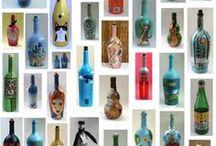 Botellas / Botella pintadas o decoradas / by vero sola