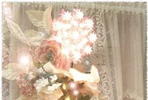 Shabby Christmas / Shabby Chic Cottage Style Christmas / by Kitty and Me Designs