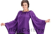 Kate Flared Sleeve Medieval Peasant Top Chemise / Medieval chemise with Romantic Renaissance flared Dagget sleeves. / by HolyClothing.com
