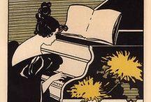 Musical Instruments / Vintage Posters / by Yaneff International Fine Art