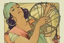 Alphonse Mucha - Poster Gallery / Poster Gallery / by Yaneff International Fine Art