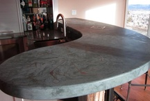 McGDesigns Bar Tops / Entertain in style with a custom bar top. Add color, texture or unique touches like inlaid personal effects, mementos, corporate logos, or other design elements for added style. / by James McGregor