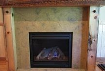 McGDesigns Fireplaces / Add warmth and elegance to the room and surrounding areas with custom fireplace design elements like freestanding or integrated hearths, mantels, wall panels, shelving and tool ledges. / by James McGregor