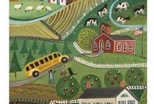 ~~ FOLK ART LOVE ~~   / This form of ART connects me to my God, to His Creations, to my Love of Family,  Country,  and good Friends. / by Pat Parkin