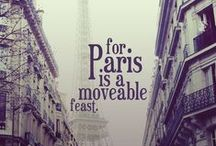 Paris Awaits / I adore Paris. I want to sit in an outdoor cafe there, smoke my tobacco pipe, and write some prose. / by Nicholas Trandahl