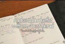 G & F Bucket List / A bucket list of two best friends... / by Franzi Krause