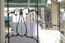 "Canopies / ""Before & After"" canopy conversion photo's of antique iron beds / by Antique Iron Beds by Cathouse Beds"