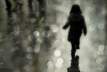 rainy days / puddles and poetry / by Myrthe Krook