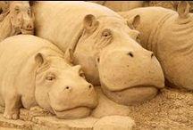 ( SAND SCULPTURES ) / Fantastic Sand Sculptures / by Gillian Haberfield