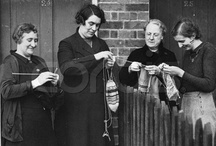 Vintage images of people knitting / by Vintage Knitting