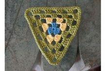 TRIÂNGULOS DE CROCHÊ  / TRIÂNGULOS DE CROCHÊ  / by Sônia Maria - blog Falando de Crochet