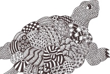 Zentangle animals / by Mariska den Boer