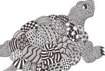 Zentangle animals / by Mariska den Boer