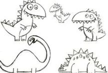Artwork & Sketches / Development sketches for our ecards at http://www.katiescards.com  Great for colouring in!  / by Katie Davies
