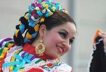 Trajes y Bailes Folckloricos  de Mexico / Mexico rico en tradiciones y cultura .Existen diferentes tipos de trajes tipicos y tradicionales los hay de Gala y de uso tradicional del diario en cada uno de los estados segun la region de mexico.  / by Lourdes Alcala