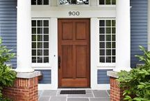 Shut the Front Door! / Your front door is the first thing your home has to make an impression. Stand out from every other home on the block with a brightly colored door!  / by National Builder Supply