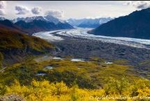 """NA: U.S. Alaska / Canada. / """"Chasing Ursa Maior"""": 28 days / mid-Aug till early Sept/ hiking Harding Icefield Trail (2d) and sea kayaking or paddle boarding the Bear Glacier Lagoon with Liquid Adventures in KENAI NP, bears watching in KATMAI NP, hiking Ä'äy Chù (Slim's River) West/East to Observation Mountain (3-4d), hiking Goatherd Mt. overlooking Lowell Glacier (2d) and flightseeing in KLUANE NP; flightseeing and polar bears watching in ANWR; kayaking Alatna river & hiking Arrigetch Peaks in GATES OF THE ARCTIC NP. / by new horizons"""